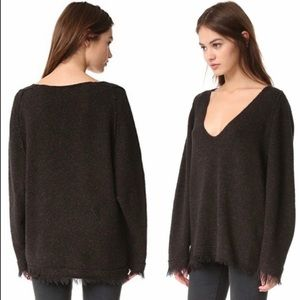 Free People Irresistible Fringe Wool Sweater Med